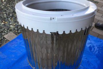 愛知県名古屋市東区出来町のグランドメゾン徳川東で洗濯機クリーニング