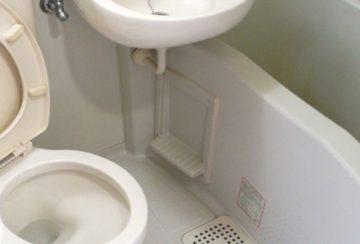 京都府京都市東山区五軒町のルモン白川橋で浴室・トイレクリーニング